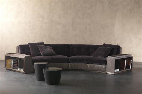 circus sofa semi circular sofa in leather circus rugiano luxury
