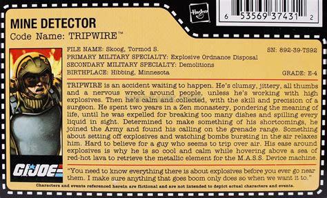 Gijoe 25th Tripwire Mine Detector Hasbro tripwire g i joe database