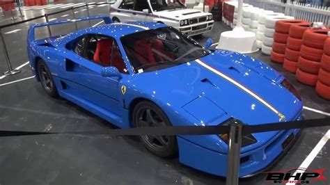 blue f40 blue f40 at the classic car show
