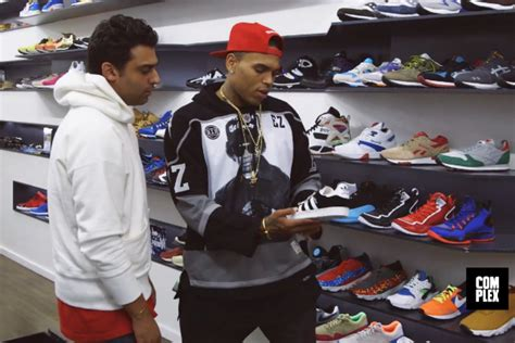 complex goes sneaker shopping with chris brown