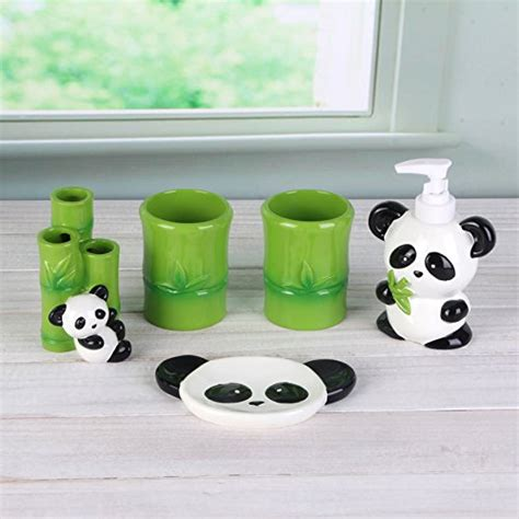 panda bathroom adorable accessories for kids bathroom home designing
