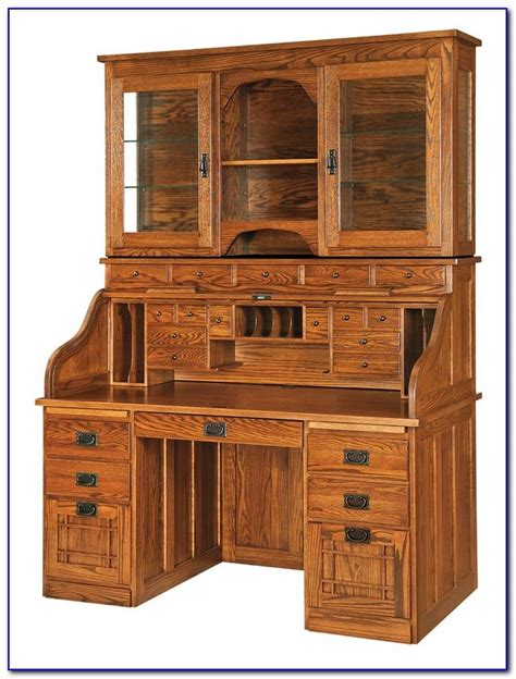 roll top desk with hutch roll top computer desk hutch desk home design ideas