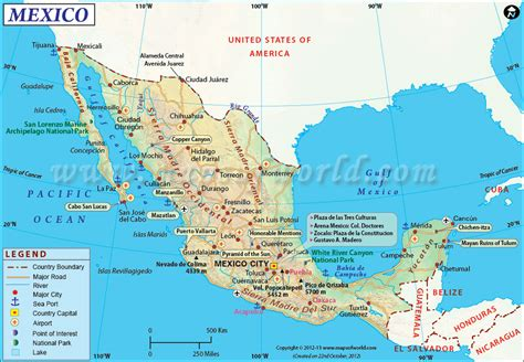 map of the mexico airports in mexico map