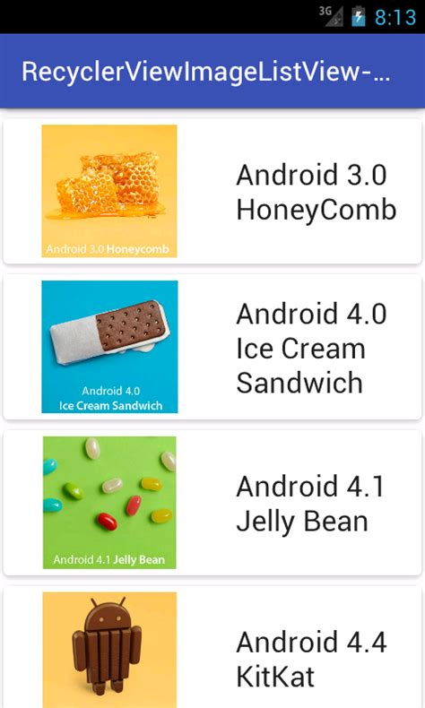online tutorial of android android recyclerview listview with imageview textview json