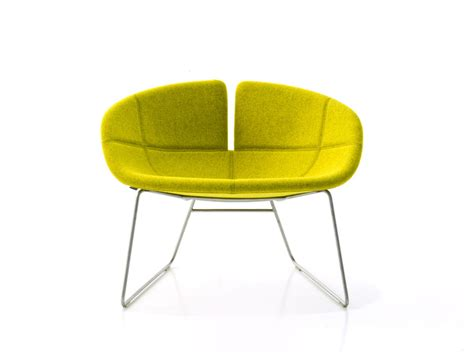 buy the moroso fjord armchair with sled base at nest co uk