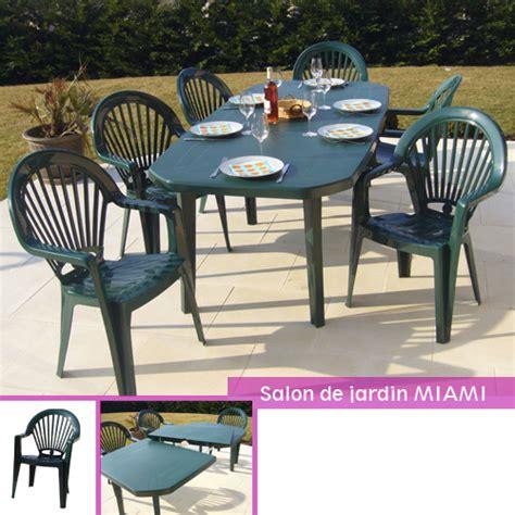 salon de jardin en pvc miami grosfillex salon pvc vert table 2 2m 6 fauteuils oogarden