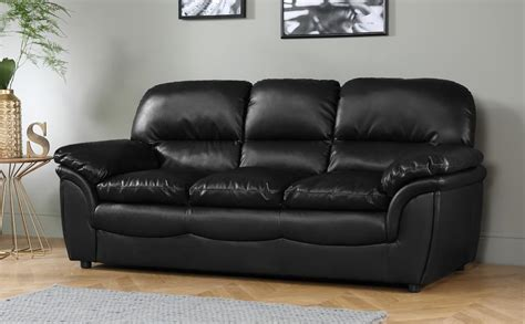 Black Leather 3 Seater Sofa by Rochester Black Leather 3 Seater Sofa Only 163 399 99