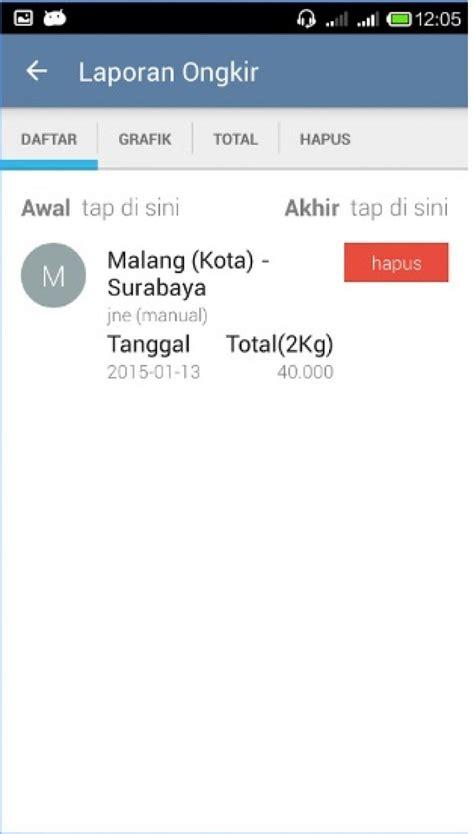 cek resi jne status barang aplikasi cek ongkos kirim barang via jne di android