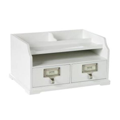 White Desk Organizers Home Decorators Collection 13 25 In W White Desk Organizer 0827800410 The Home Depot