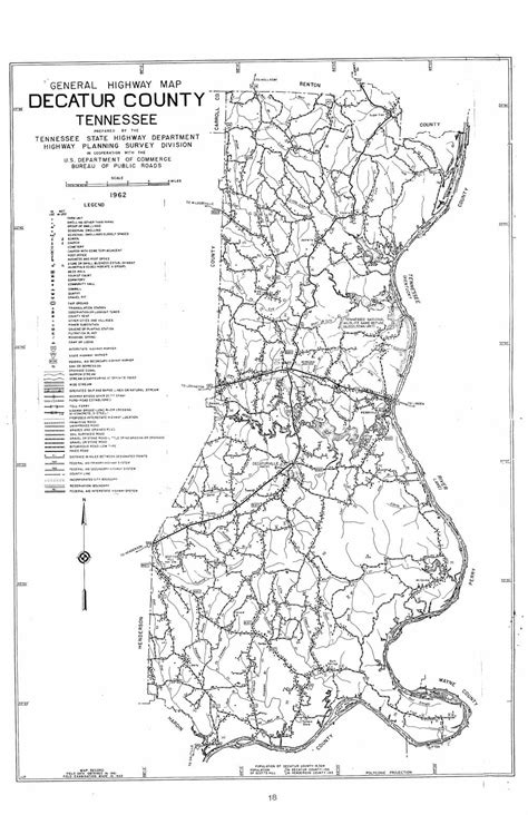 Decatur County Records Decatur County Highway Map 1962