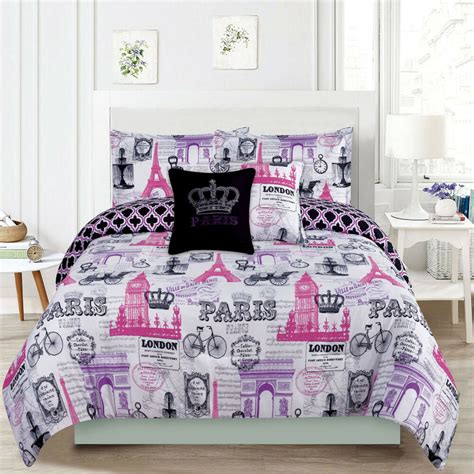 Bed Set by Bedding Comforter Bed Set Eiffel Tower