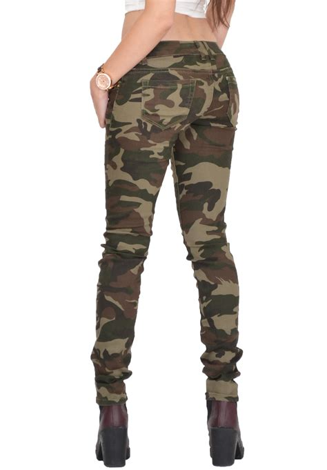 camo pattern skinny jeans womens army military green camouflage skinny slim stretch