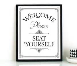 funny bathroom wall art printable please seat yourself sign diy upgrades impress
