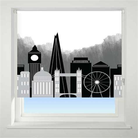 240cm Roller Blind Universal London Skyline Patterned Thermal Blackout Roller