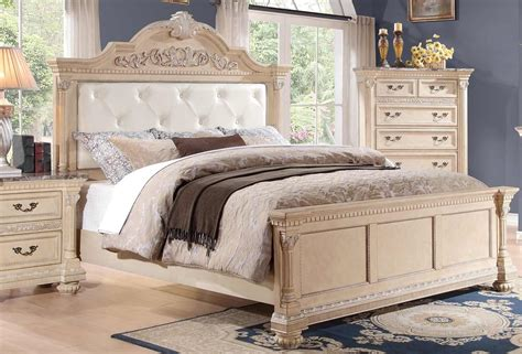 russian hill upholstery homelegance russian hill upholstered bed antique white