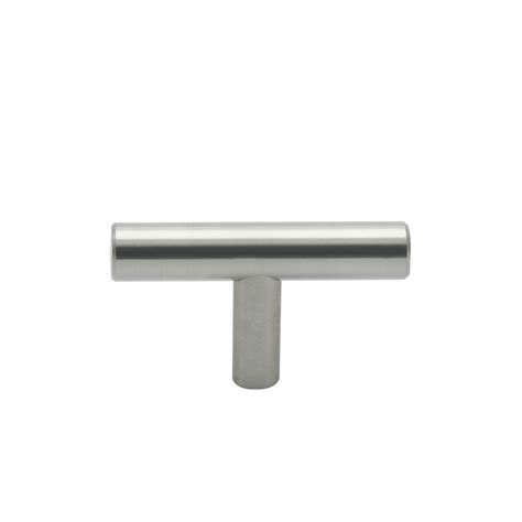 Bunnings Cabinet Handles by Prestige 60mm Brushed Nickel T Knob Bunnings Warehouse