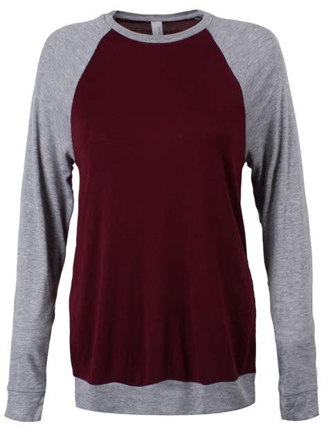 Grey Maroon Raglan unisex maroon and grey raglan lightweight sweatshirt