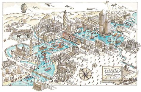 river thames map poster along the thames katherine baxter cartography