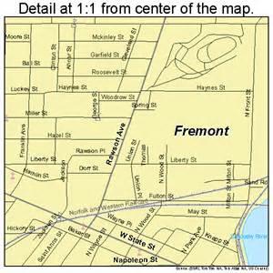 Fremont Ohio Map fremont ohio street map 3928826