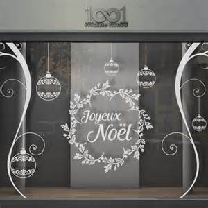 sticker vitrine joyeux no 235 l boules orenements