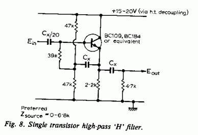 transistor lifier filter the class a lifier site modular pre lifier design