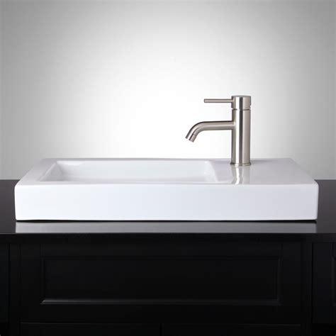 rectangular vessel bathroom sinks wirtanen rectangular porcelain vessel bathroom