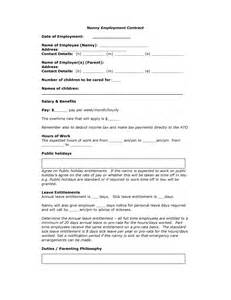 Babysitting Contract Template by Nanny Contract Template Freewordtemplates Net