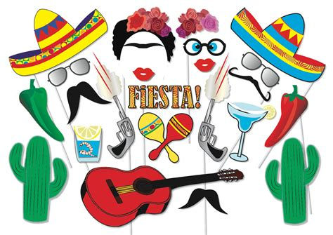 printable photo booth props fiesta kitchen dining