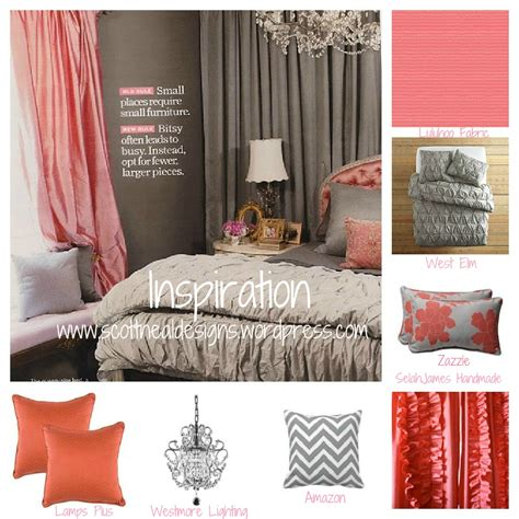 coral and grey bedroom coral and gray dontaye scott neal