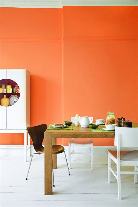 60 wandfarbe ideen in orange naturinspirierte gestaltung - Orange Wandfarbe