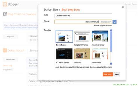 cara cepat membuat website gratis blogspot cara cepat membuat blog gratis keren tutorial software