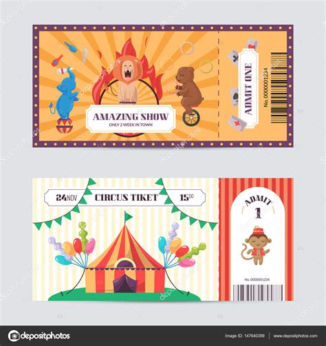 show ticket template circus ticket design template amazing show with trained