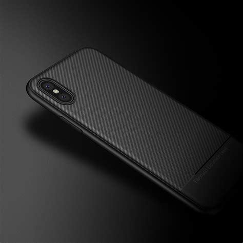 Ipaky Carbon Fiber Iphone X Softcase Shockproof Tpu ultra thin shockproof carbon fiber soft tpu for