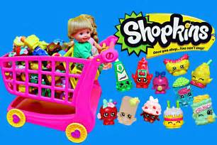 Frozen kids shopkins playset opening shopping cart new amp shopkins