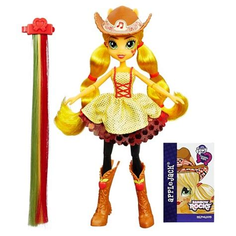 Equestria Rockin Hairstyle Dolls by My Pony Equestria Rainbow Rocks Applejack