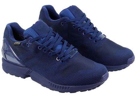 adidas mens zx flux weave og gore tex trainers navy landau store