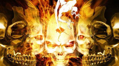 imagenes de calaveras en fuego fondo pantalla calaveras en fuego