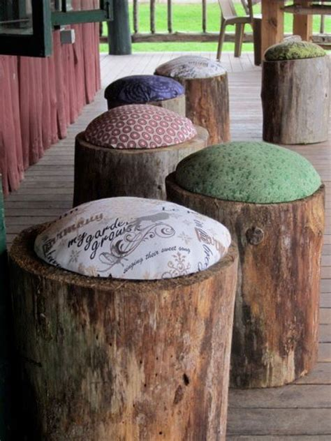 wood stump stool diy h a happenings diy wood stools