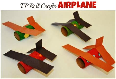 Paper Airplane Craft - toilet paper roll airplanes and crafts