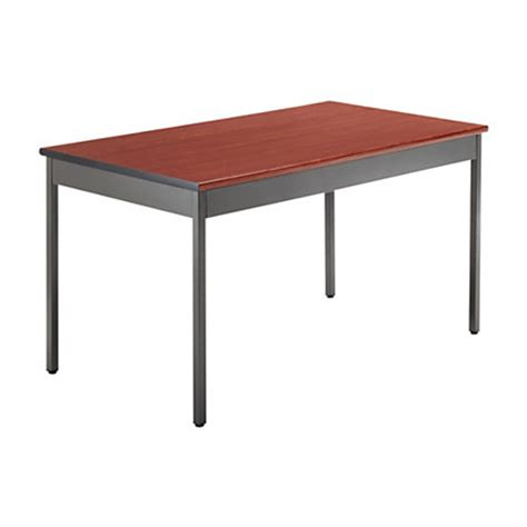 ofm utility table rectangle 30 h x 48 w x 30 d cherry by