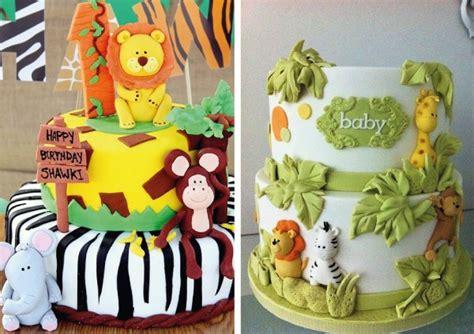 tortas en decoracion en safari ideas para fiestas de animales de la selva tarjetas