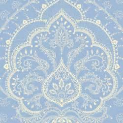 Sky azure boho chic summer suzani gzhel wisteria