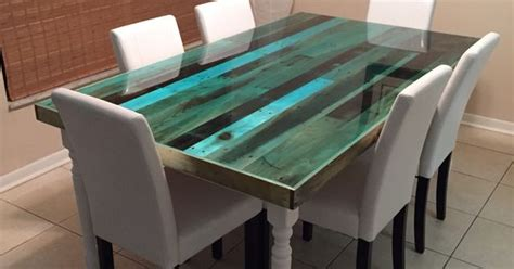 resin table top diy i made it reclaimed pallet table top finished with epoxy