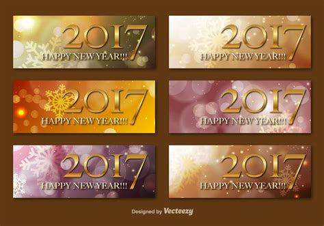 new year banner vector happy new year 2017 vector banners free vector