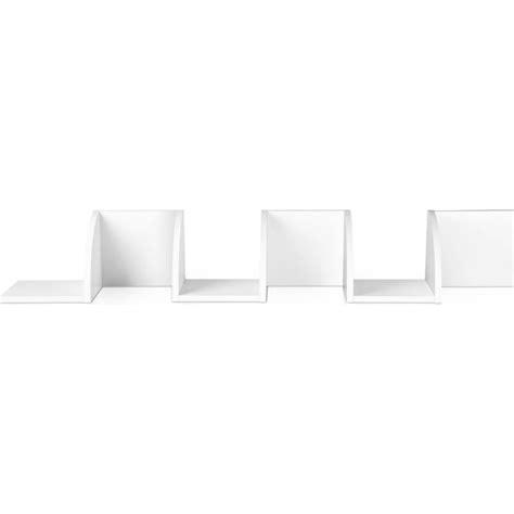 Corner Wall Shelf White by 5 Tier Mdf Wood Corner Wall Storage Shelf In White Buy