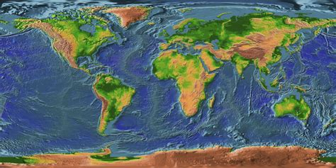 topographic map of the world topographic map earth mapsof net