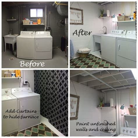 basement laundry room before and after 25 best ideas about laundry room curtains on