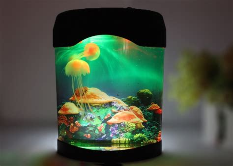 jellyfish aquarium with color changing led lights jellyfish fish tank decor color changing l mood led