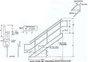 Standard Stair Tread Height by Industrial Institutional Ibc Stairs Ibc Prefab Steel