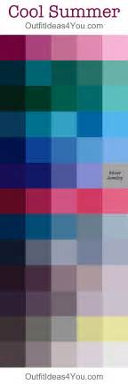 cool winter color palette cool summer seasonal color palette ideas for you